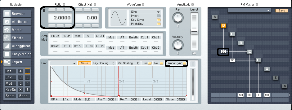 CREATING SEQUENCED SOUNDS IN FM8 - ADSR