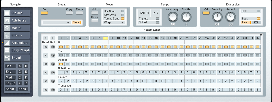 Simple Electronic Arpeggiated Synth in FM8 Tutorial by OhmLab 2