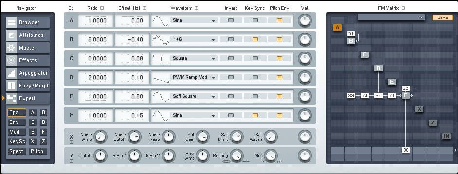 Making a Driving FM8 Drum n Bass Synth Tutorial by OhmLab 1