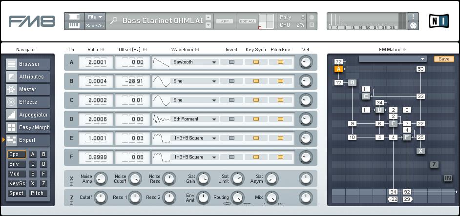 Designing an FM8 Bass Clarinet Synth Tutorial by OhmLab 1