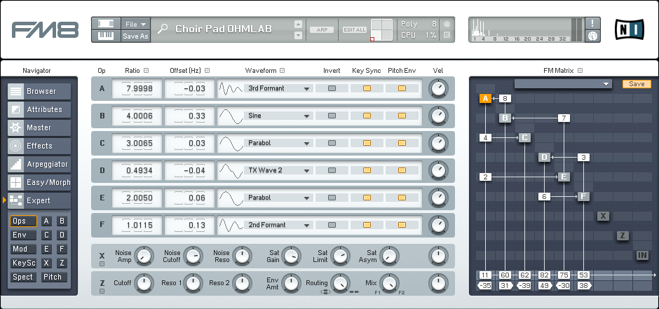 How to Make a Gentle FM8 Choir Pad Synth Tutorial by OhmLab 1
