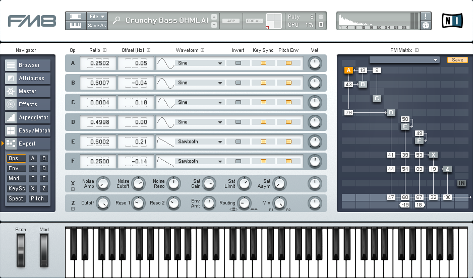 Designing a More Dynamic and Crunchy Bass Synth with FM