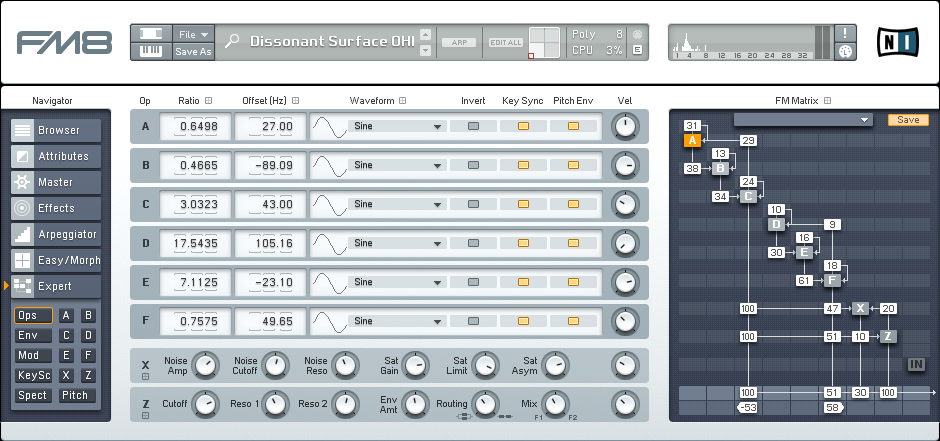 Designing a More Interesting Dissonant FM8 Pad Tutorial by OhmLab 1